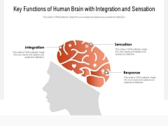 Key Functions Of Human Brain With Integration And Sensation Ppt PowerPoint Presentation Gallery Pictures PDF