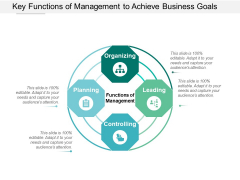Key Functions Of Management To Achieve Business Goals Ppt Powerpoint Presentation Pictures File Formats