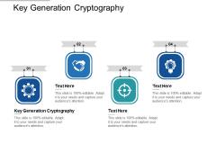 Key Generation Cryptography Ppt PowerPoint Presentation Portfolio Smartart Cpb