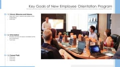 Key Goals Of New Employee Orientation Program Ppt PowerPoint Presentation File Graphics Example PDF