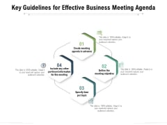Key Guidelines For Effective Business Meeting Agenda Ppt PowerPoint Presentation Model Show PDF