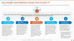 Key Health And Wellness Trends Post Covid 19 Demonstration PDF