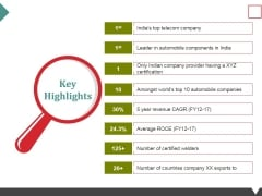 Key Highlights Ppt PowerPoint Presentation Ideas Show