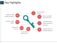 Key Highlights Ppt Powerpoint Presentation Styles Portfolio