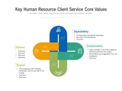 Key Human Resource Client Service Core Values Ppt PowerPoint Presentation Layouts Graphic Tips PDF