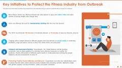 Key Initiatives To Protect The Fitness Industry From Outbreak Brochure PDF