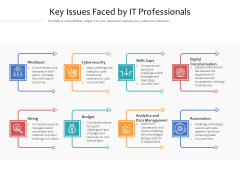 Key Issues Faced By IT Professionals Ppt PowerPoint Presentation File Outfit PDF