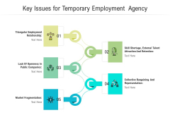 Key Issues For Temporary Employment Agency Ppt PowerPoint Presentation Summary Maker PDF