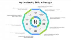Key Leadership Skills In Decagon Ppt PowerPoint Presentation Icon Layouts PDF