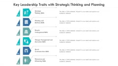 Key Leadership Traits With Strategic Thinking And Planning Ppt PowerPoint Presentation File Infographic Template PDF