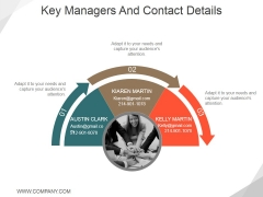 Key Managers And Contact Details Ppt PowerPoint Presentation Portfolio Example Topics