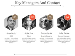 Key Managers And Contact Template 1 Ppt PowerPoint Presentation Deck