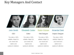 Key Managers And Contact Template 1 Ppt PowerPoint Presentation Shapes