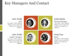 Key Managers And Contact Template 2 Ppt PowerPoint Presentation Deck