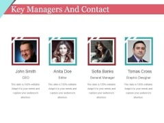 Key Managers And Contact Template 2 Ppt PowerPoint Presentation File Demonstration