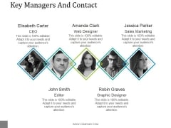 Key Managers And Contact Template 2 Ppt PowerPoint Presentation Ideas