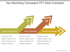 Key Marketing Campaigns Ppt Slide Examples