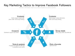 Key Marketing Tactics To Improve Facebook Followers Ppt PowerPoint Presentation File Format PDF