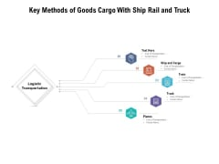 Key Methods Of Goods Cargo With Ship Rail And Truck Ppt PowerPoint Presentation Infographics Slide Download PDF