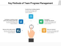 Key Methods Of Team Progress Management Ppt PowerPoint Presentation File Shapes PDF