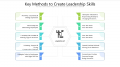 Key Methods To Create Leadership Skills Ppt PowerPoint Presentation Outline Graphic Images PDF