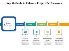 Key Methods To Enhance Project Performance Ppt PowerPoint Presentation Gallery Portrait PDF