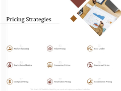 Key Metrics For Hotel Administration Management Pricing Strategies Icons PDF
