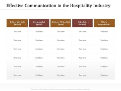 Key Metrics Hotel Administration Management Effective Communication In The Hospitality Industry Inspiration PDF