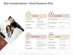 Key Metrics Hotel Administration Management Key Considerations Hotel Business Plan Formats PDF