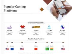 Key Metrics Hotel Administration Management Popular Gaming Platforms Icons PDF