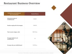 Key Metrics Hotel Administration Management Restaurant Business Overview Elements PDF