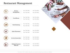 Key Metrics Hotel Administration Management Restaurant Management Template PDF