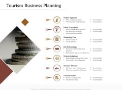 Key Metrics Hotel Administration Management Tourism Business Planning Brochure PDF