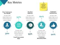 Key Metrics Ppt PowerPoint Presentation Themes