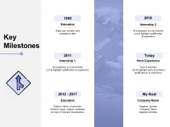 Key Milestones Education Ppt PowerPoint Presentation Infographics Designs Download