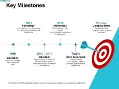 Key Milestones Education Ppt PowerPoint Presentation Model Slides