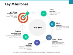 Key Milestones Internship Ppt PowerPoint Presentation Ideas Graphics Template