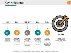 Key Milestones Ppt PowerPoint Presentation Infographics Styles