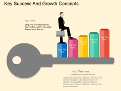 Key Of Success And Growth Concepts Powerpoint Template
