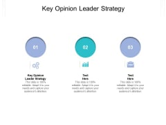Key Opinion Leader Strategy Ppt PowerPoint Presentation Infographic Template Guidelines Cpb Pdf