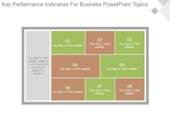 Key Performance Indicators For Business Powerpoint Topics