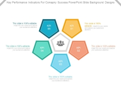 Key Performance Indicators For Company Success Powerpoint Slide Background Designs