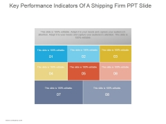 Key Performance Indicators Of A Shipping Firm Ppt PowerPoint Presentation Background Designs