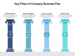 Key Pillars Of Company Business Plan Ppt PowerPoint Presentation Inspiration Background Image PDF