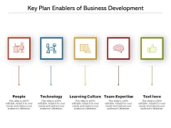 Key Plan Enablers Of Business Development Ppt PowerPoint Presentation Gallery Format PDF