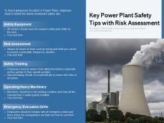 Key Power Plant Safety Tips With Risk Assessment Ppt PowerPoint Presentation File Example PDF