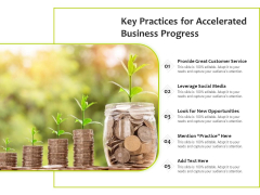 Key Practices For Accelerated Business Progress Ppt PowerPoint Presentation File Graphics Download PDF