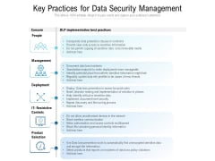 Key Practices For Data Security Management Ppt PowerPoint Presentation File Background Designs PDF