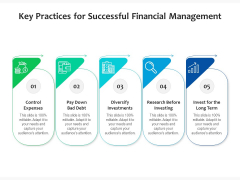 Key Practices For Successful Financial Management Ppt PowerPoint Presentation Icon Diagrams PDF