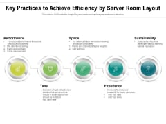 Key Practices To Achieve Efficiency By Server Room Layout Ppt PowerPoint Presentation File Portfolio PDF